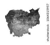 ancient map of cambodia. old... | Shutterstock .eps vector #1064315957