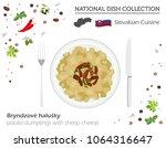 slovakian cuisine. european... | Shutterstock .eps vector #1064316647