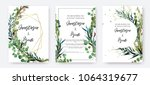 wedding invitation frame set ... | Shutterstock .eps vector #1064319677
