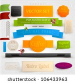 set of retro ribbons  labels... | Shutterstock .eps vector #106433963