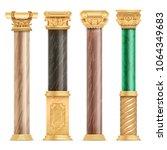 classic arabic architecture... | Shutterstock .eps vector #1064349683