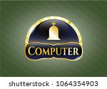 gold shiny emblem with... | Shutterstock .eps vector #1064354903