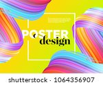 abstract minimal poster design. ... | Shutterstock .eps vector #1064356907
