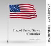 national flag of united states... | Shutterstock .eps vector #1064359907