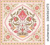 oriental style ornate floral... | Shutterstock .eps vector #1064361473