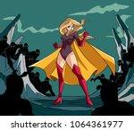 full length illustration of a... | Shutterstock .eps vector #1064361977