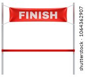 finish line with red textile... | Shutterstock .eps vector #1064362907