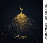 ramadan kareem design with... | Shutterstock .eps vector #1064364287