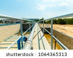 sewerage water aeration and... | Shutterstock . vector #1064365313