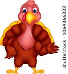 sweet turkey cartoon posing...   Shutterstock .eps vector #1064366333