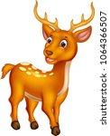 funny deer cartoon posing with...   Shutterstock .eps vector #1064366507