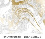 gold and gray marbled texture.... | Shutterstock .eps vector #1064368673