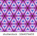 geometric pattern in lace style.... | Shutterstock .eps vector #1064376653