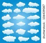 vector design set of clouds in... | Shutterstock .eps vector #106439087