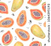 fruit endless design for fabric ... | Shutterstock . vector #1064395193