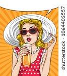 vector retro illustration pop... | Shutterstock .eps vector #1064403557