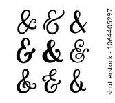 ampersand designs. vintage... | Shutterstock .eps vector #1064405297