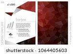 dark red vector  brochure for...