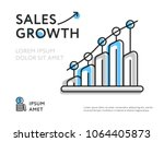 simple design showing growing... | Shutterstock .eps vector #1064405873