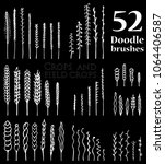 set of doodle brushes in the...   Shutterstock .eps vector #1064406587