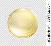 oil gold bubble isolated on... | Shutterstock .eps vector #1064422187