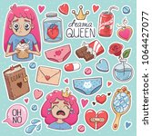 drama queen. set of vector... | Shutterstock .eps vector #1064427077