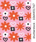fun free hand flower drawing.... | Shutterstock .eps vector #1064451767