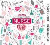 international nurse day image.... | Shutterstock .eps vector #1064452937