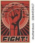fight propaganda poster.... | Shutterstock .eps vector #1064453417