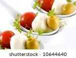 mozzarella  cherry tomatoes and ... | Shutterstock . vector #10644640