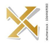cross from arrows icon. vector. ... | Shutterstock .eps vector #1064469083