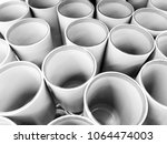 tubes abstract perspective... | Shutterstock . vector #1064474003