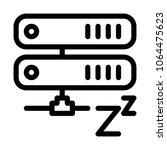 server sleep mode | Shutterstock .eps vector #1064475623