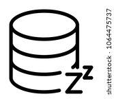 database on standby mode | Shutterstock .eps vector #1064475737