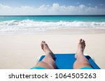 summer. exotic vacations. palm... | Shutterstock . vector #1064505263