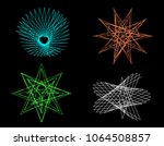 abstract geometric shapes of... | Shutterstock .eps vector #1064508857