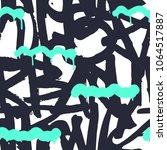 vector graffiti seamless... | Shutterstock .eps vector #1064517887