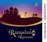 ramadan kareem greeting card... | Shutterstock .eps vector #1064525297