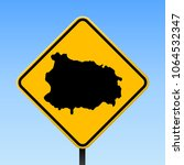 ischia map road sign. square... | Shutterstock .eps vector #1064532347
