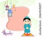 ramadan kareem celebration...   Shutterstock .eps vector #1064545097