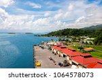port of raiatea  cruise port... | Shutterstock . vector #1064578073
