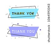 thank you cards isolated on... | Shutterstock .eps vector #1064593343