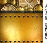 metallic gears background  3d... | Shutterstock . vector #1064626763