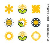 sun and solar energy vector... | Shutterstock .eps vector #1064632523