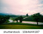 beautiful landscape of northern ... | Shutterstock . vector #1064644187
