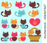 Stock vector a set of cute kittens 106467467