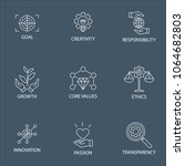 modern flat thin line icon set... | Shutterstock .eps vector #1064682803