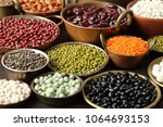 beans  peas and lentils in...   Shutterstock . vector #1064693153