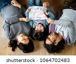 asian family buy new house | Shutterstock . vector #1064702483