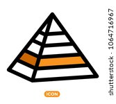 maslow pyramid symbol. icon of... | Shutterstock .eps vector #1064716967